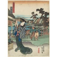 Utagawa Kunisada: View of Totsuka (Totsuka zu), from the series Fifty-three Stations of the Tôkaidô Road (Tôkaidô gojûsan tsugi no uchi) - Museum of Fine Arts