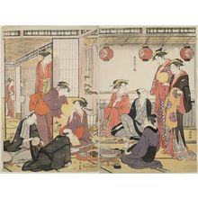 Torii Kiyonaga: The Eighth Month, from the series Twelve Months in the South (Minami jûni kô) - Museum of Fine Arts