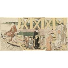 Torii Kiyonaga: A Boating Party under Azuma Bridge - Museum of Fine Arts