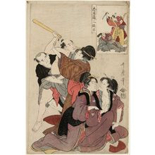 喜多川歌麿: Act III (Sandanme), from the series The Storehouse of Loyal Retainers (Chûshingura) - ボストン美術館