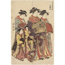Torii Kiyonaga: A Leading Courtesan (Seirôkun), from the series Contest of Contemporary Beauties of the Pleasure Quarters (Tôsei yûri bijin awase) - Museum of Fine Arts