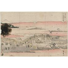 歌川豊広: Clearing Weather at Nihonbashi Bridge (Nihonbashi seiran), from the series Eight Views of Edo (Edo hakkei) - ボストン美術館