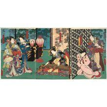 歌川国貞: Ashikaga Yoshimasa - ボストン美術館