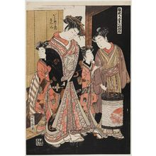 Isoda Koryusai: Renzan of the Gaku-Tawaraya, from the series Models for Fashion: New Year Designs as Fresh as Young Leaves (Hinagata wakana no hatsu moyô) - Museum of Fine Arts