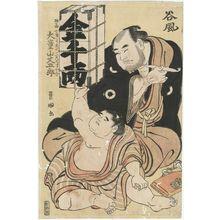 Utagawa Toyokuni I: Sumô Wrestlers Tanikaze and Daidôzan Bungorô - Museum of Fine Arts