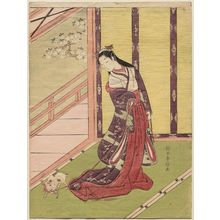 Suzuki Harunobu: The Third Princess (Nyosan no miya) and Her Cat - Museum of Fine Arts