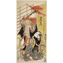 鳥居清信: Actors Ichikawa Danjûrô II and Sodesaki Iseno - ボストン美術館