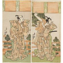 Ippitsusai Buncho: Actors Ichikawa Monnosuke II as Soga Gorô and Ichikawa Yaozô II as Soga Jûrô - Museum of Fine Arts