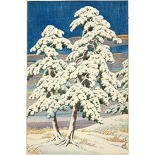 Kawase Hasui: Pines in Clear Weather after Snow (Matsu no yukibare) - Museum of Fine Arts