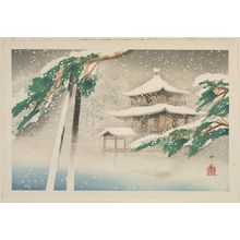 Dômoto Insho: Kinkaku-ji in Snow, from the album Eight Views of Kyoto (Kyôto hakkei) - Museum of Fine Arts