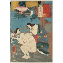 Utagawa Kuniyoshi: Akasaka: Empress Kômyô, from the series Sixty-nine Stations of the Kisokaidô Road (Kisokaidô rokujûkyû tsugi no uchi) - Museum of Fine Arts