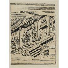 菱川師宣: An imperial messenger before Yang Kuei-fei (?) at Daishinden palace - ボストン美術館