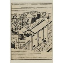 Hishikawa Moronobu: Warriors by a closed gate. - Museum of Fine Arts