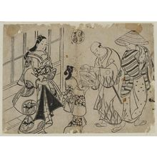 Okumura Masanobu: The Yûgao Chapter from The Tale of Genji (Genji Yûgao), from a series of Genji parodies - Museum of Fine Arts