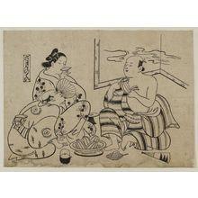 Okumura Masanobu: The Sixth Month (Rokugatsu no tei), from an untitled series of Customs of the Pleasure Quarters in the Twelve Months - Museum of Fine Arts