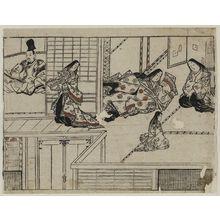 菱川師宣: From the series The Sake-drinking Boy (Shuten-doji) - ボストン美術館