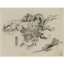 Okumura Masanobu: Ishiyama Genda, from an untitled series of warriors - Museum of Fine Arts