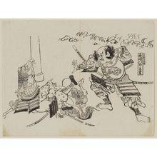 奥村政信: Nagasaki Jiro Tadashige, Kamakura Wakamiya - ボストン美術館