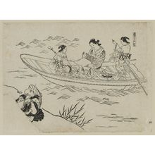 Okumura Masanobu: Koi no tsuribune; Eguchi (i.e Love's Fishing Boat) - Museum of Fine Arts