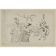 奥村政信: Lin Heqing in Japan (Yamato Rinnasei) - ボストン美術館