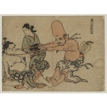 Okumura Masanobu: Tug of War -- Seven Gods of Good Fortune - Museum of Fine Arts
