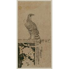 Okumura Masanobu: Hawk on Perch - Museum of Fine Arts