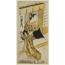 Okumura Masanobu: Actor Takinaka Utagawa as the Courtesan (Keisei) Agemaki - Museum of Fine Arts