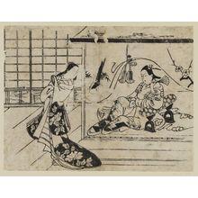 鳥居清信: Ushiwakamaru and Jôruri-hime - ボストン美術館