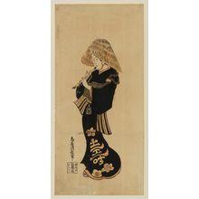 鳥居清信: Actor Ichikawa Danjûrô II as a Komusô - ボストン美術館