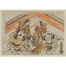 Torii Kiyonobu I: Actors Nakajima Mihoemon as Bandô Tarô, Sanjo Kantaro II as Kanja, Onoe Samon as Manja, and Ôtani Hiroji as Bandô Jirô - Museum of Fine Arts