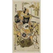鳥居清信: Actors Ichikawa Danjûrô II and Matsumoto Kôshirô - ボストン美術館