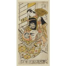 Torii Kiyonobu II: Actors Ichimura Takenojô IV as Tatsuyasha Gozen and Bandô Hikosaburô as Watanabe no Tsuna - Museum of Fine Arts