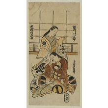 鳥居清信: Actors Ichikawa Monnosuke and Nakamura Takesaburô - ボストン美術館