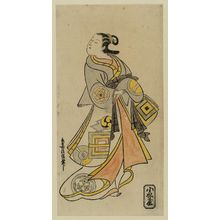 鳥居清信: Actor Hamashita Karumo as a Courtesan - ボストン美術館
