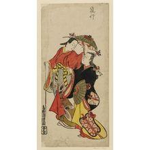 鳥居清信: Actors Ichikawa Monnosuke and Dekijima Daisuke - ボストン美術館