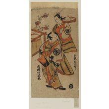 鳥居清信: Actors Ichimura Takenojô and Sanjo Kantarô - ボストン美術館