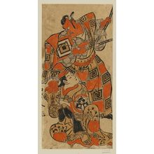 鳥居清倍: Actors Ichikawa Danjûrô II as Ike no Shoji and Yamashita Kinsaku I as Terute-hime - ボストン美術館