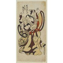 Torii Kiyomasu II: Actors Sawamura Sôjûrô as Seigen and Sodesaki Iseno as Sakura-hime - Museum of Fine Arts