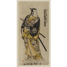 Torii Kiyomasu II: Actor Ichimura Uzaemon VIII as dandy samurai - Museum of Fine Arts
