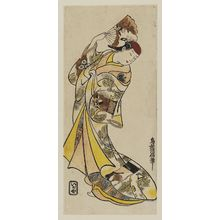 Torii Kiyomasu II: Actor Fujimura Handayû - Museum of Fine Arts