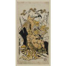 Torii Kiyomasu II: Actors Ichikawa Danzô as Kagekiyo (?) and Tsugawa Kamon, from Kyoto, as Shirotae - Museum of Fine Arts