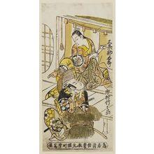 Torii Kiyomasu II: Actors Sanjô Kantarô and Ichimura Takenojô - Museum of Fine Arts