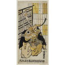 Torii Kiyomasu II: Actor Ichikawa Ebizô II as a Thunder God (Raijin) - Museum of Fine Arts