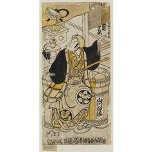 Torii Kiyomasu II: Actor Ichimura Uzaemon III as Shinbei, a Vendor of White Sake (Shirozakeuri Shinbei) - Museum of Fine Arts