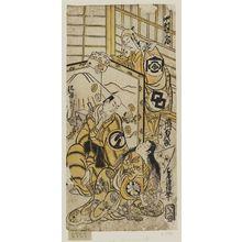 Torii Kiyomasu II: Actors Nakamura Shichisaburô, Segawa Kichijirô, and Sawamura Sôjûrô - Museum of Fine Arts