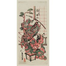 Torii Kiyomasu II: Actors Arashi Wakano as Sakura no mae and Bandô Hikosaburô - Museum of Fine Arts