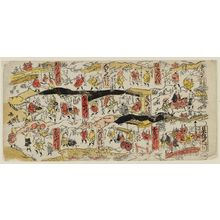 Torii Kiyomasu II: No. 1, Nihonbashi to Odawara, from an untitled pictorial map of the Tokaido Road - Museum of Fine Arts