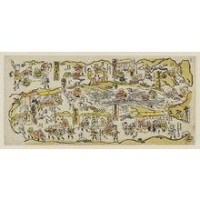 Torii Kiyomasu II: Various scenes along the Tokaido. Series - Tokaido No. 3. - Museum of Fine Arts