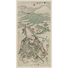 Torii Kiyomasu II: Fujimi no Sato (Fuji-viewing Village); Actor Nakamura Denkuro as Asahina - Museum of Fine Arts