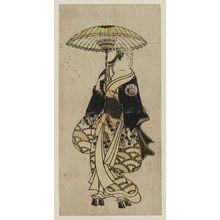奥村利信: Actor holding umbrella - ボストン美術館